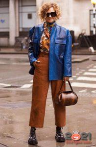 Кожаные брюки и куртки - уличная мода 2020-2021