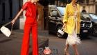 Уличная мода Милана  осень-зима 2020-2021- яркие оттенки