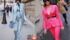 Модный женский костюм - уличная мода Парижа 2020-2021