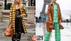 Модная клетка - Париж уличная мода осень-зима 2020-2021