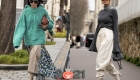 Свитер оверсайз - Париж, уличная мода осень-зима 2020-2021
