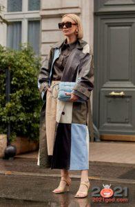 Лоскутное пальто - уличная мода сезона осень-зима 2020-2021