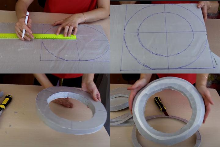 Новогодний венок из конфет (этап 1) - пошаговая инструкция