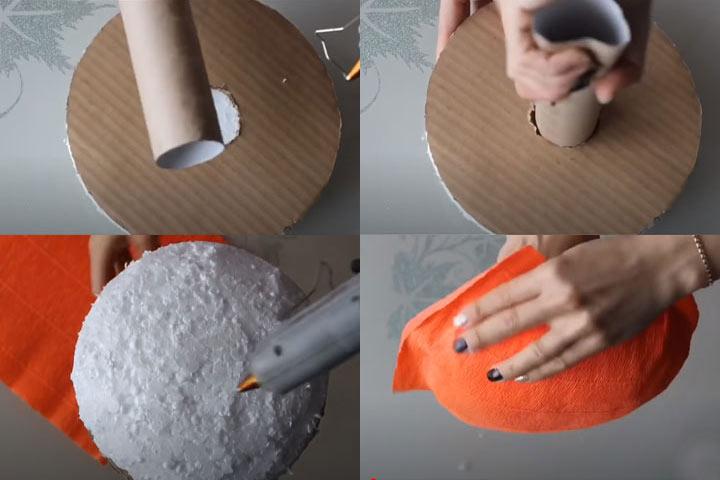 Букет из конфет своими руками (этап 2) - пошаговая инструкция