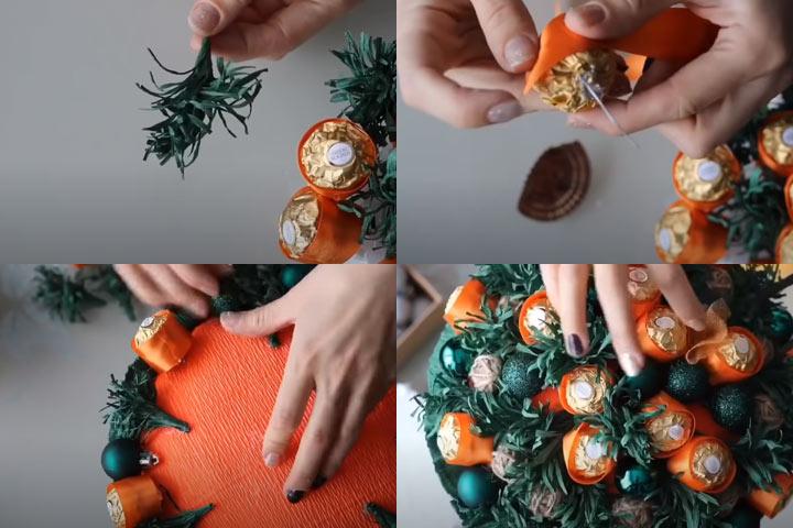 Букет из конфет своими руками (этап 4) - пошаговая инструкция