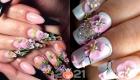 Акриловые цветы поверх гель-лака - идеи маникюра на 2021 год