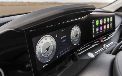 Цифровая панель Hyundai Elantra 2021 года