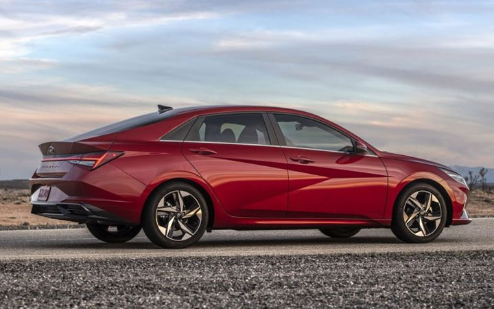 Габариты Hyundai Elantra 2021 года