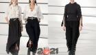 Шанель - брюки с разрезом осень-зима 2020-2021
