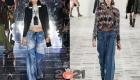 Лоскутные джинсы - мода зимы 2020-2021 года