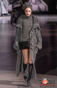 Вязаное пальто осень-зима 2020-2021