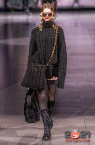 Вязаный свитер и сумка осень-зима 2020-2021
