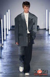 Классический градиентный костюм для мужчины на 2021 год