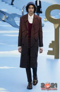 Мужское градиентное пальто на 2021 год