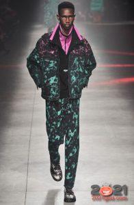 Пестрый градиентный костюм из денима на 2021 год