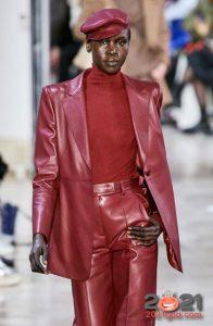 Кожаные береты - модные тренды зимы 2020-2021 года