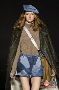 модные джинсовые береты сезона осень-зима 2020-2021