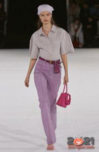 Модные сиреневые джинсы 2020-2021 года