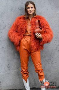 Модные оранжевые джинсы 2020-2021 года