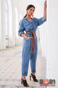 Модный джинсовый комбинезон на 2021 год