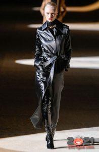 Модные луки зимы 2020-2021 - кожаные пальто
