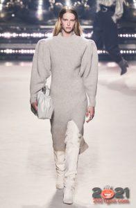 Модное вязаное платье сезона осень-зима 2020-2021