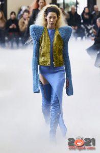 Модные голубые сапоги осень-зима 2020-2021