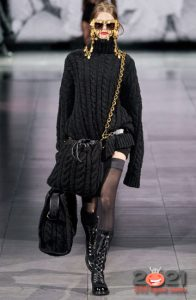 Большая вязаная сумка Dolce & Gabbana осень-зима 2020-2021