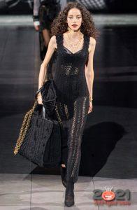 Вязаная сумка макси Dolce & Gabbana осень-зима 2020-2021