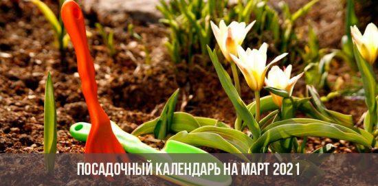 Посадочный календарь на март