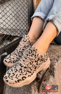 Модные леопардовые кеды сезона осень-зима 2020-2021