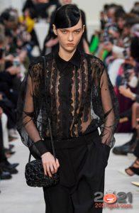 Модная прозрачная блуза на 2021 год