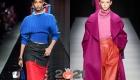 Коллекции осень-зима 2020-2021 - модные яркие свитера
