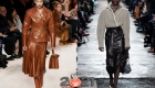 Кожаные юбки для базового гардероба зимы 2020-2021
