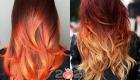 Мелирование омбре на рыжие волосы на 2021 год