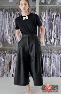 Модные черные кюлоты на 2021 год