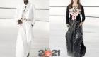 Модные широкие брюки Шанель с разрезами сезона осень-зима 2020-2021