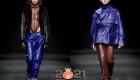 Яркие кожаные брюки на зиму 2020-2021