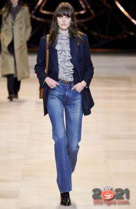 Классические синие джинсы зима 2020-2021