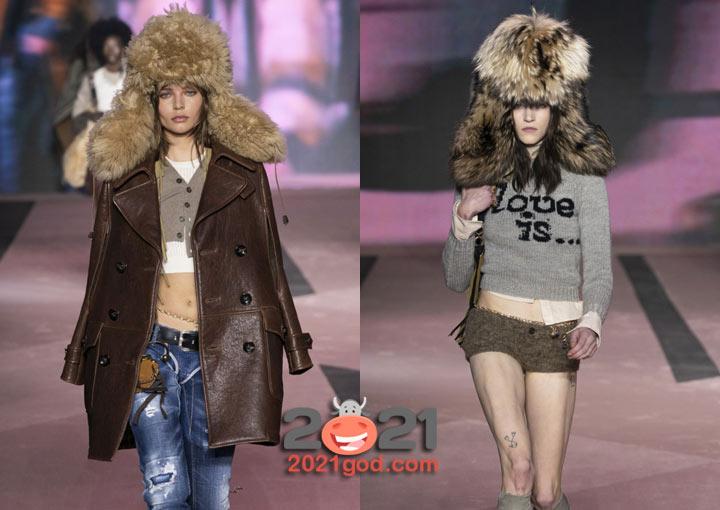 Женские шапки-ушанки сезона осень-зима 2020-2021