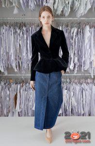 Модная джинсовая юбка осень-зима 2020-2021