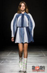 Комбинированная джинсовая юбка осень-зима 2020-2021