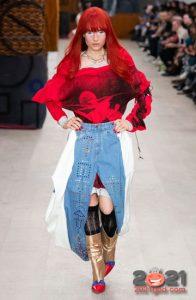 Джинсовая юбка-штаны осень-зима 2020-2021
