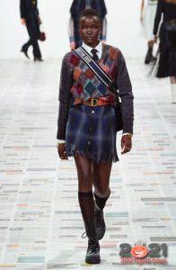 Модная клетчатая мини юбка на 2021 год