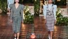 Модные клетчатые юбки со складками осень-зима 2020-2021