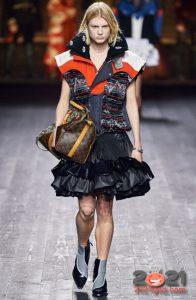 Модная юбка с оборками на 2021 год
