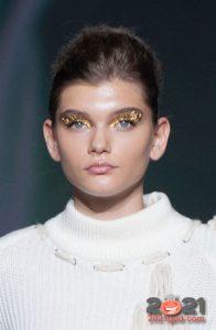модные золотые тени сезона осень-зима 2020-2021