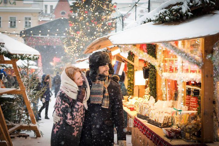 Рождественская ярмарка в Санкт Петербурге