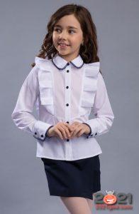 Модные модели школьных блузок для девочек на 2020-2021 год