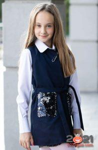 Модный кардиган для школьниц